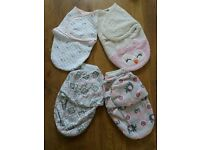 4 x Quality Swaddle Blankets **Great Condition** Baby **From a smoke free clean home**