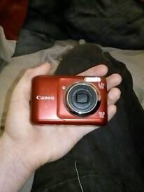 Red Canon Digital Camera