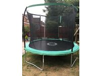 SOLD. 10ft trampoline including enclosure. Very good condition , less than 2yrs old