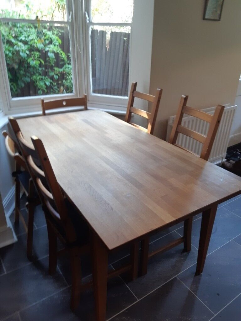 Dining Room Table Excellent Condition Solid Wood Height ...