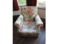 Floral Print Soft Chair