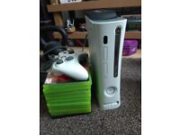 Xbox 360 120gb with 10 games and 1 controller