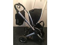 Black almost new oyster pushchair