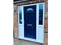 front door with sides - dark blue
