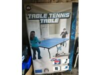 large wheeled ping pong table brand new