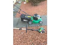 Qualcast petrol lawnmower and strimmer (new )