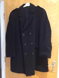 Navy blue men's coat