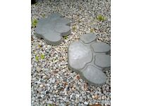 Large Handmade paw stepping stones