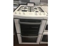 55CM WHITE ZANUSSI GAS COOKER