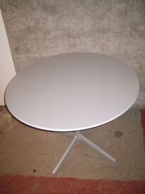 Silver Round Office Table ID No 61/11/16
