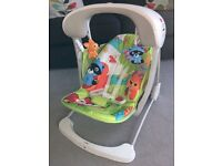 Fisher Price Woodland Friends Take-Along Baby Swing - Excellent Condition!