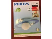 Philips MyKidsRoom Cronos Children's Ceiling Light Blue (Includes 1 x 15 Watts E27 Bulb)