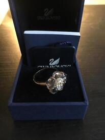 Swarovski rose gold ring