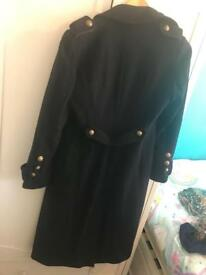 navy blue military coat size 10