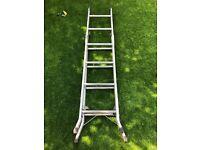 9ft aluminium 3 Way Ladder - Sw19 £30