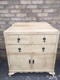 ART DECO CABINET CUPBOARD PAINTED FRENCH FARMHOUSE STYLE 3 DRAWERS
