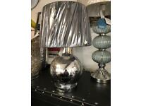 New silver table lamp £15 from Dukes furnishings