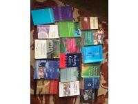 Numerous social work books