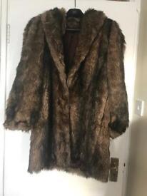 Faux fur Coat size S/M