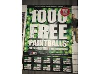Paintball package for 10 with 1000 free paintballs worth over £300