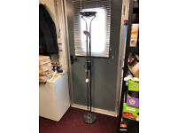 Free Standing Floor Lamp with Uplighter and Adjustable Reading Lamp