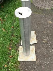 3 stainless steel post