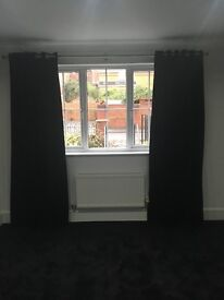 2 pairs of black velvet heavy weight / black out curtains