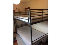 Ikea metal bunk bed frame (only 5 months old)