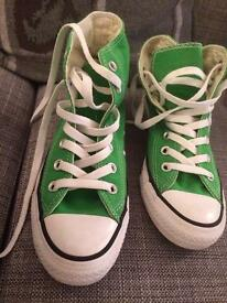 Converse all star green boots