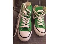 Converse all star green boots