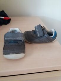 Clarks grey new baby boy shoes 3H & baby bundles clothes