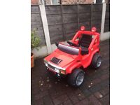 USED Ride-on chargeable kids jeep with remote control front and reverse drive