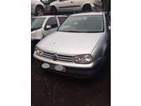 VW Golf MK4 2002 1.4 petrol silver breaking for spares