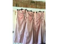 3 pink bridesmaid dresses