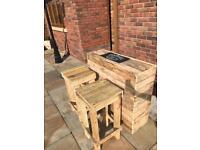 Pallet wood mini bar