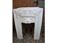 ART NOUVEAU CAST IRON FIREPLACE INSERT,BEAUTIFUL MOTIF, REDUCED FROM £50 TO £40F