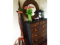 Wooden Dresser and Mirror / SOLID wooden wood AWESOME AVAILABLE DELIVERY