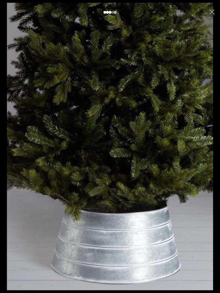 John Lewis Christmas Tree Skirt.John Lewis Highland Galvanised Steel Christmas Tree Skirt Silver In Kirkdale Merseyside Gumtree