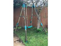 Tp wooden swing frame
