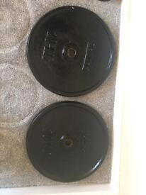 Cast Iron weight plates 2 x 20kg