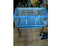 Ferplast Guinea Pig/Hamster Cage on stand with wheels