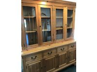 LARGE PINE DRESSER/DISPLAY UNIT