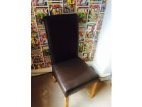 Leather dressing table chair