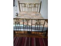 Super King Size Solid Brass Victorian style bed