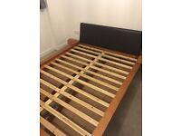 Kingsize wooden bedframe