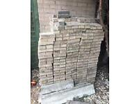 Sand stone paving blocks