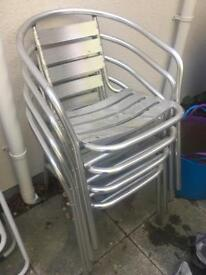 4 metal garden chaird