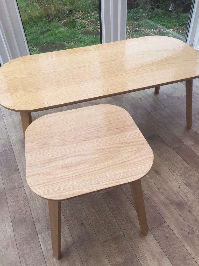 John Lewis Anton Coffee Table And Side Oak Finish