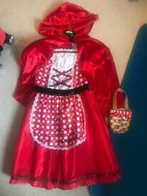 Age 7-8 little red riding hood fancy dress costume