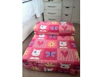 childs chair bed with Hello Kitty Design
